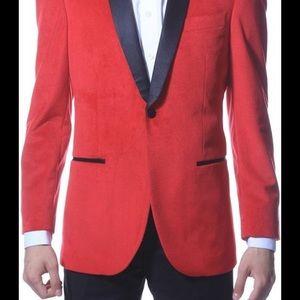 Enzo red velvet tux Ferrecci coat 42L